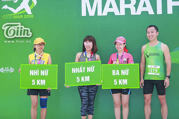 Top 3 nữ cự ly 5km.