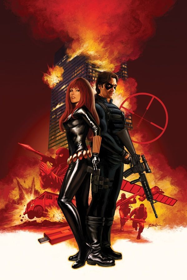 Black Widow và Winter Soldier.