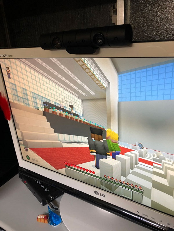 Lễ tốt nghiệp trong Minecraft.