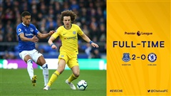 Highlights Everton 2-0 Chelsea | The Blues lỡ nhịp trong cuộc đua top 4