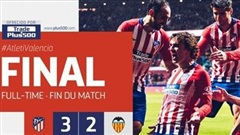 Highlights Atletico Madrid 3-2 Valencia