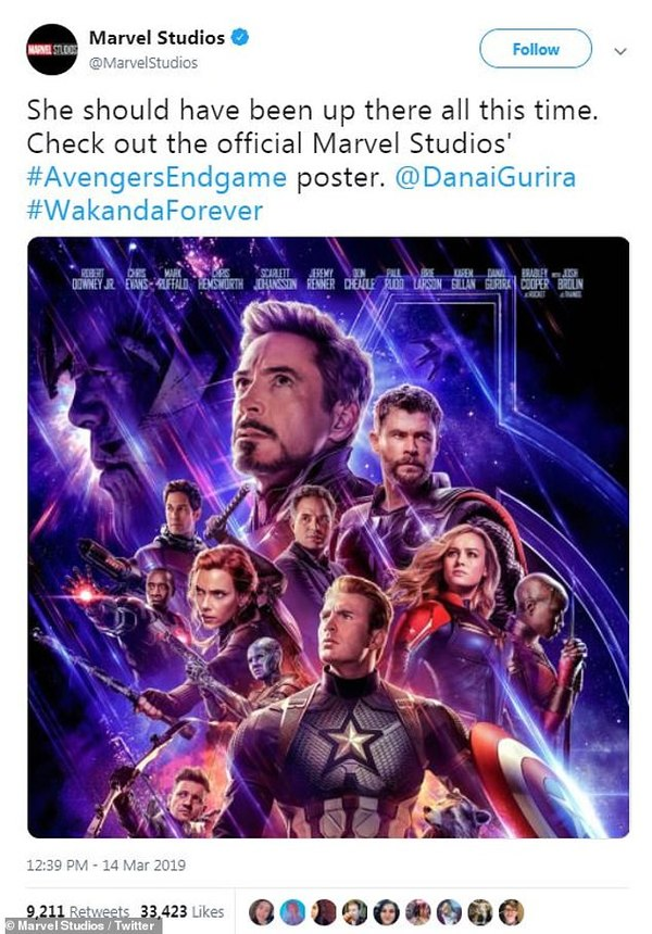 Marvel Studio tung poster mới của Avengers: End Game.